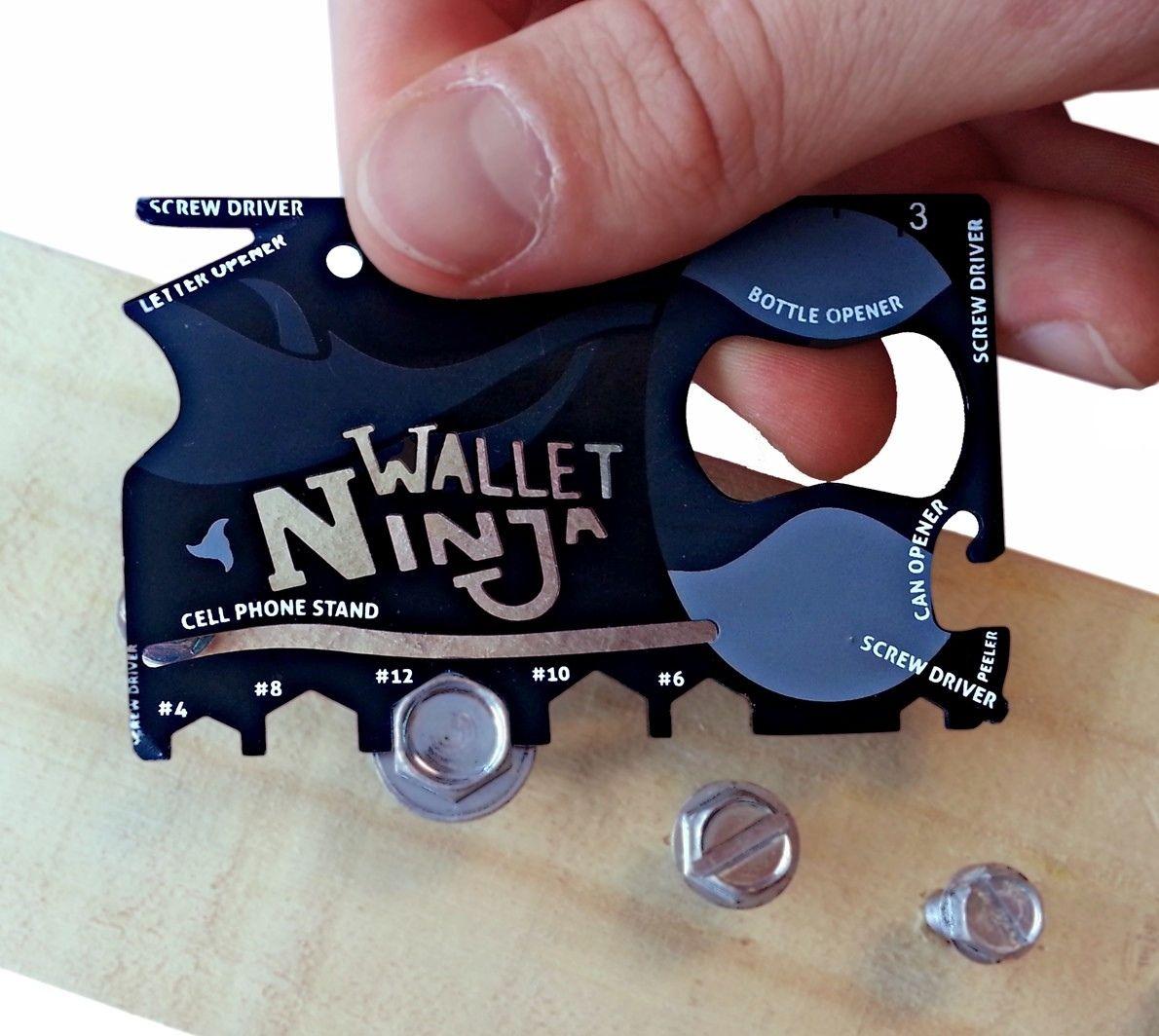 Wallet Ninja 18 In 1 Credit Card Sized Multi Tool