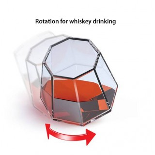 Swivel action to keep your whiskey flavoured